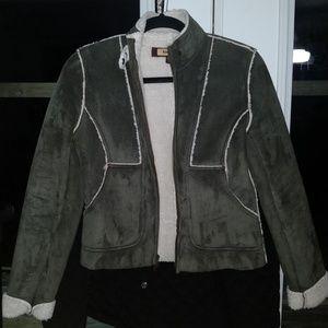 bebe Faux Suede Jacket